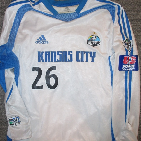 huge selection of 648eb 5ab61 Vintage Kansas City Wizards Home Jersey MLS